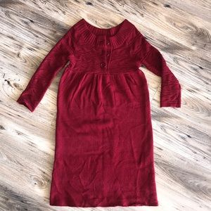 Takeout boat-neck sweater dress